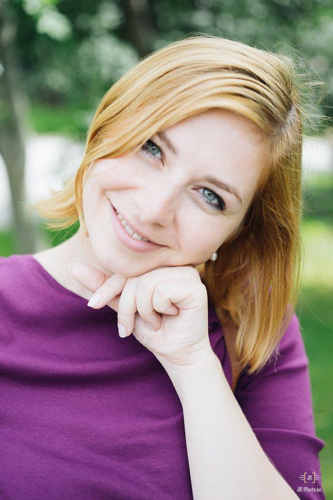 Portrait à l'extérieur - Joanna